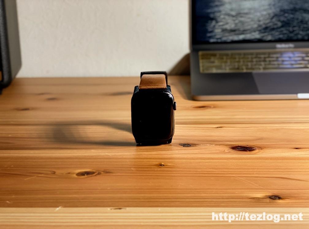 NOMAD MODERN STRAP を付けたAppleWatch Series5 スペースグレイ