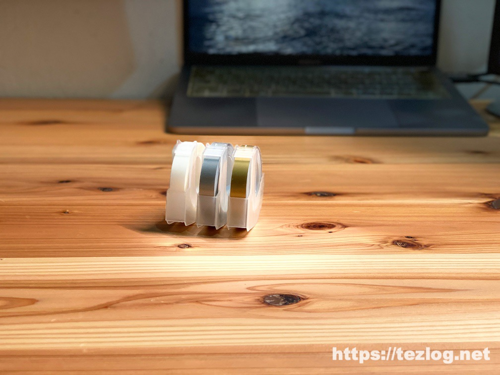 Econa ダイモ互換テープ クリアー・ゴールド・シルバー つやあり3色入り