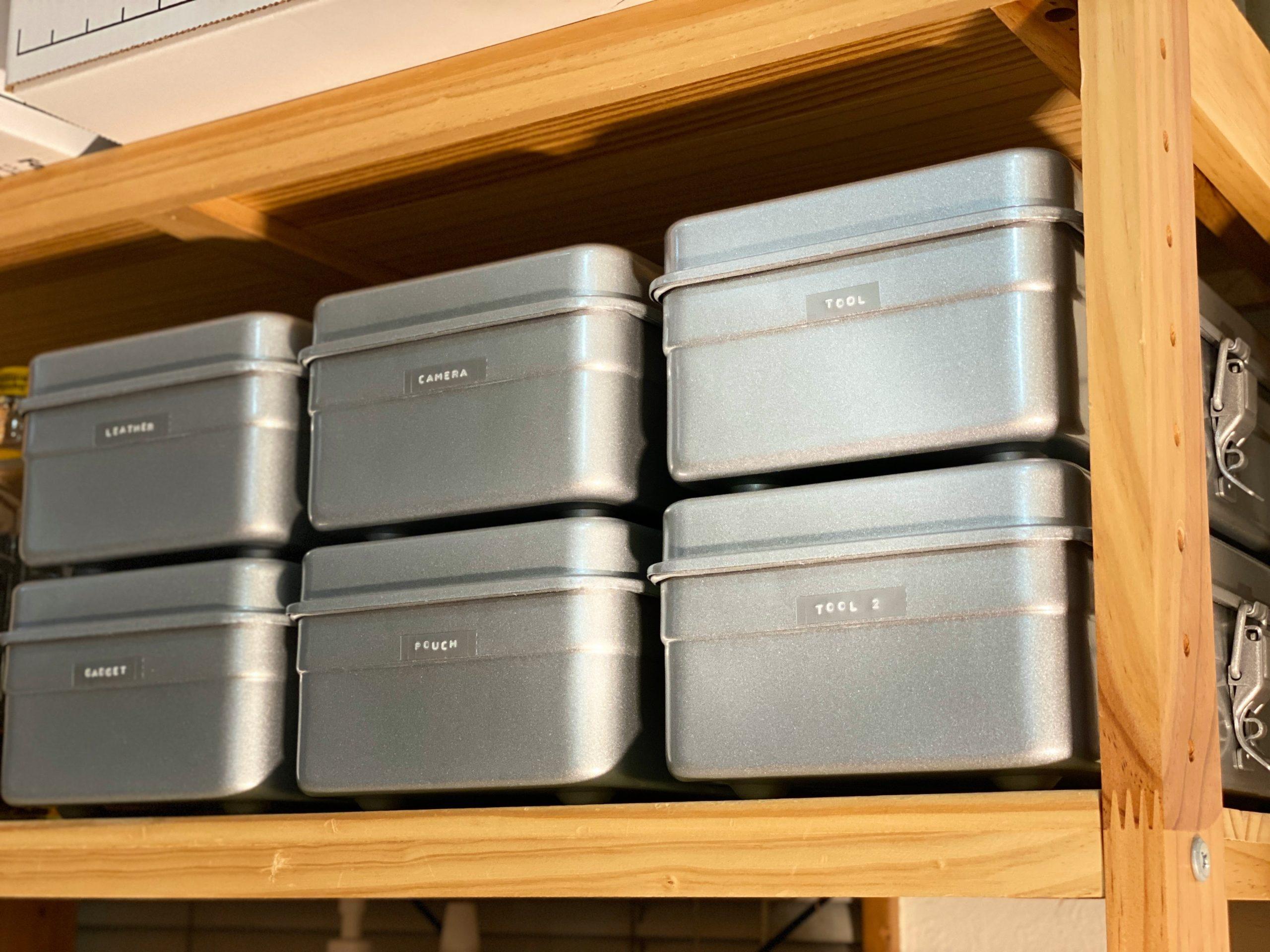 ダイモで作成したラベルテープの使用例 TRUSCOの工具箱を整理