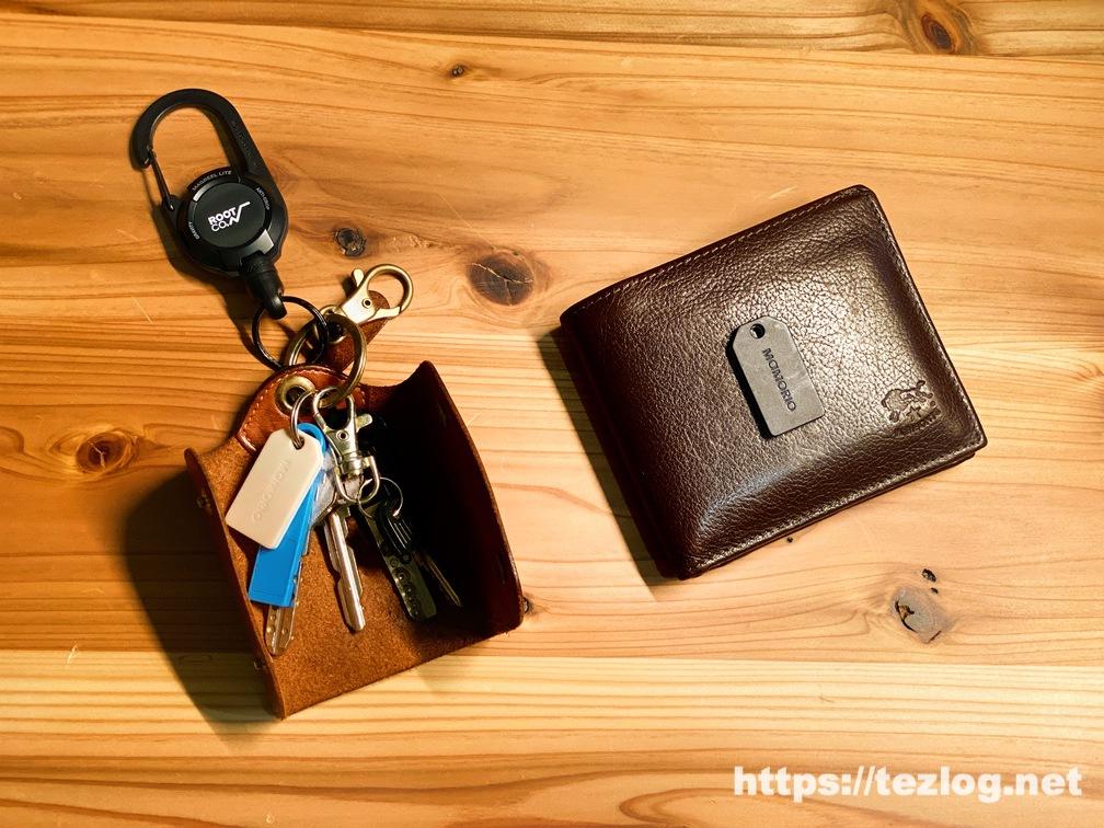 実際にいつも使用してるMAMORIOとキーケース ・財布
