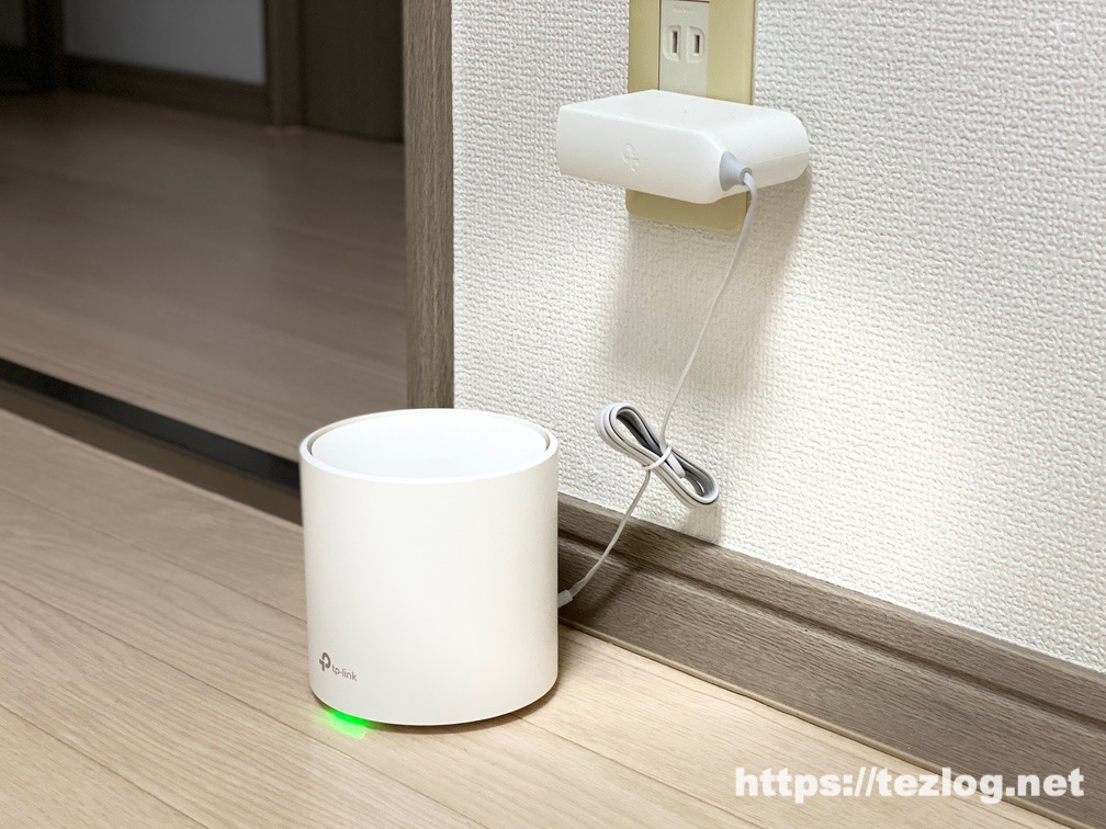 TP-Link ルーター メッシュWi-Fiシステム Deco X20 使用風景