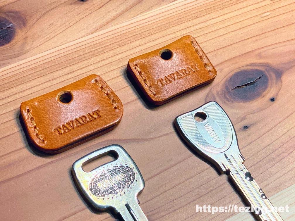 tavarat-key-cover-tps022-25ー1008wmTAVARAT 姫路レザーのキーカバーを新居のカギに付ける。