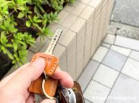 TAVARAT 姫路レザーのキーカバーを着けた家の鍵