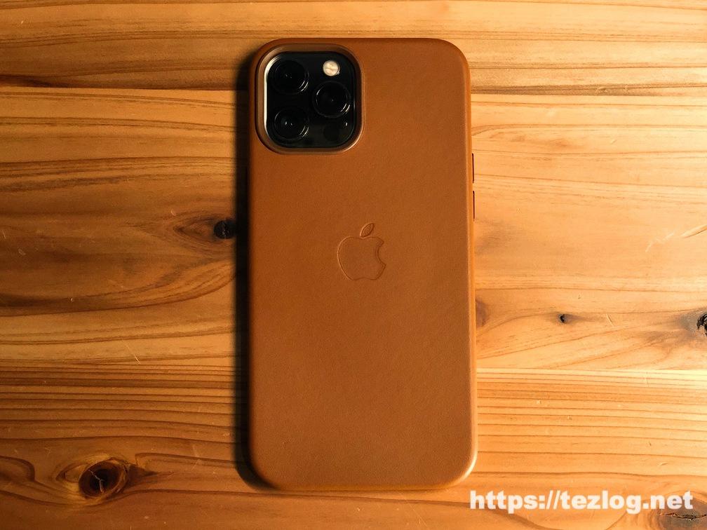 Apple純正レザーケース iPhone 12 Pro Max用 サドルブラウン 使用開始