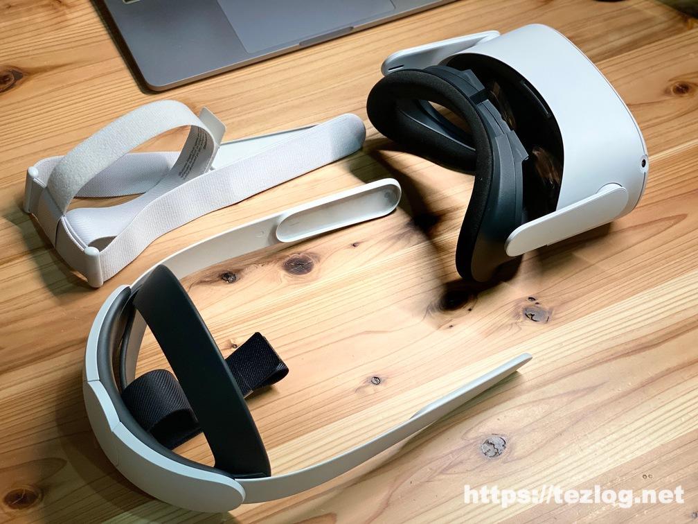 Oculus Quest 2 にElite ストラップを取り付け