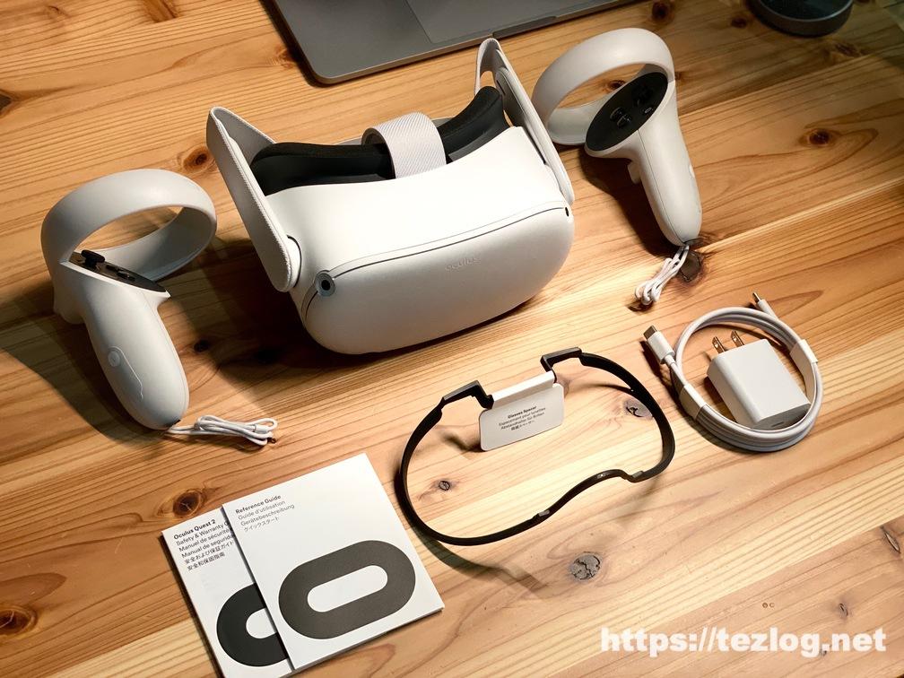 Oculus Quest 2 パッケージ 付属品一式