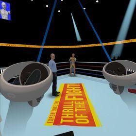 Oculus Quest 2のボクシングゲーム画面