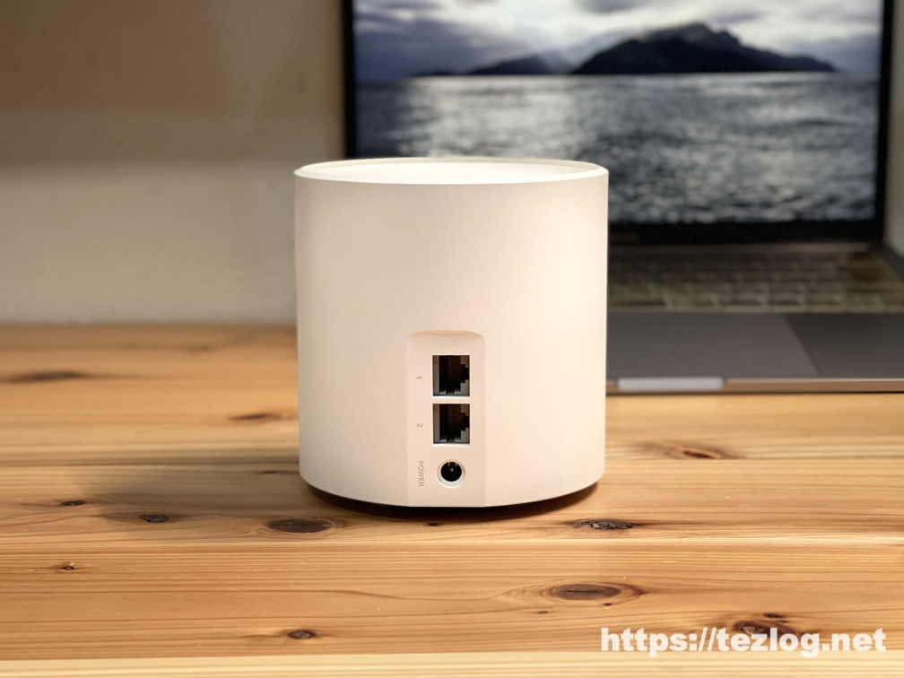 TP-Link Deco X60 メッシュWi-Fiルーター 背面