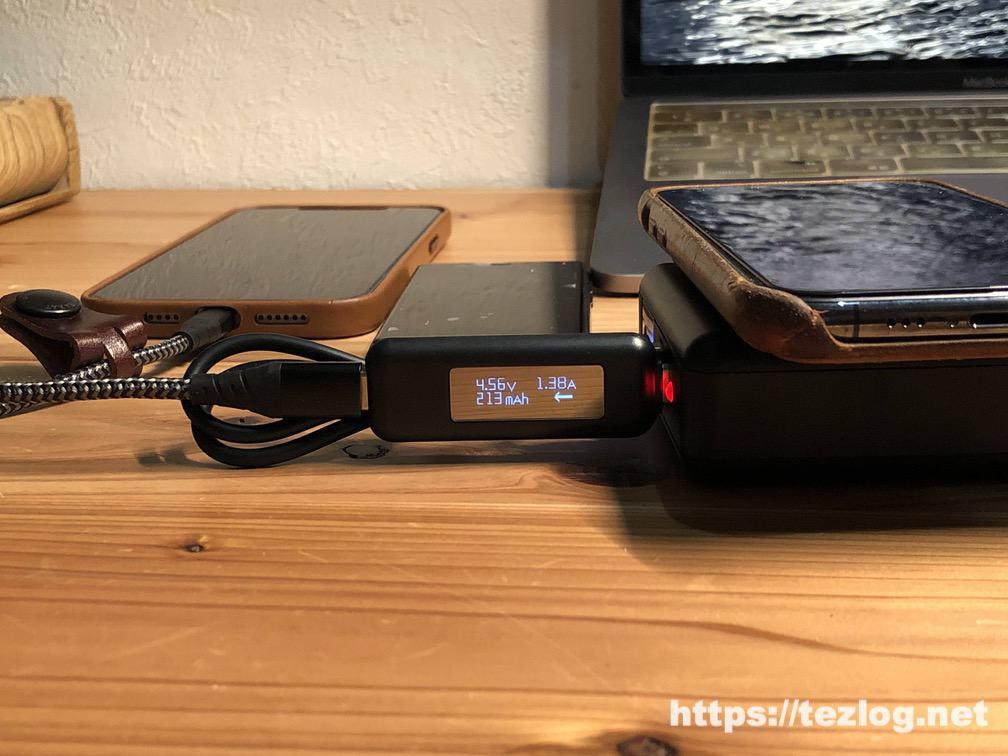 SuperMobileCharger CIO-SC2-10000でスマホを3台同時充電