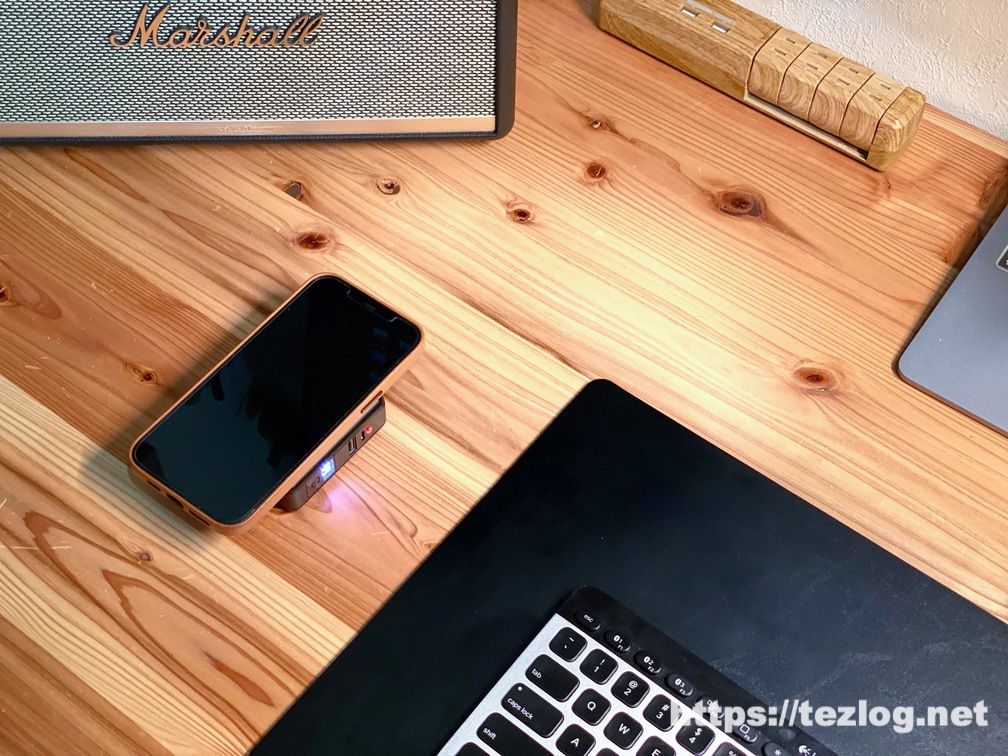SuperMobileCharger CIO-SC2-10000でiPhone 12 Pro Maxをワイヤレス充電