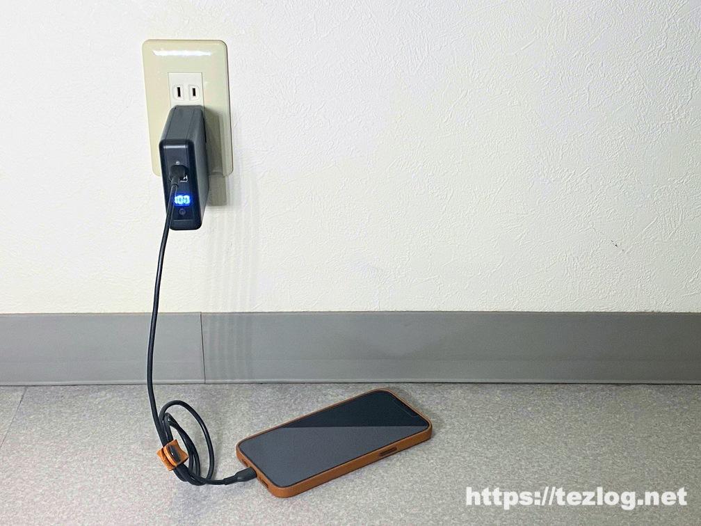 SuperMobileCharger CIO-SC2-10000 コンセントに刺して充電しながらiPhoneもUSB-Cポートから急速充電