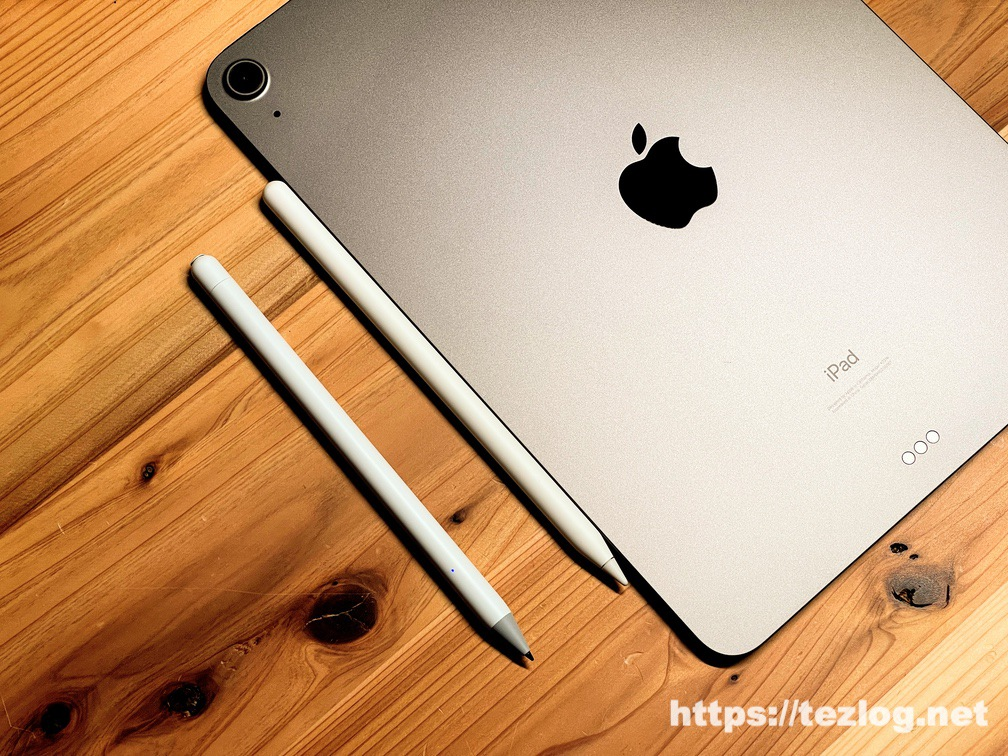 USGMoBi iPad対応タッチペンとApple Pencil (第2世代)のペンを比較