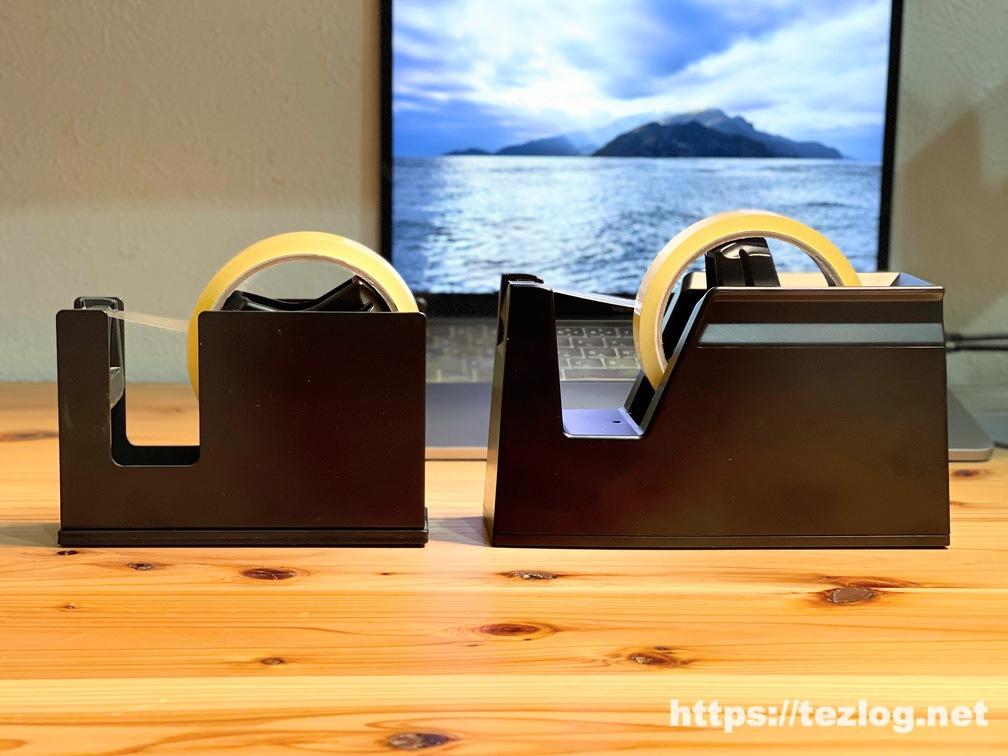 KOKUYOのテープカッター カルカット T-SM100Dとカルカット スチール 黒 T-SM111Dを比較