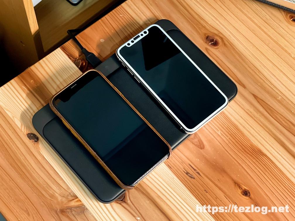 NOMAD Base Station Pro でiPhoneを2台同時にワイヤレス充電