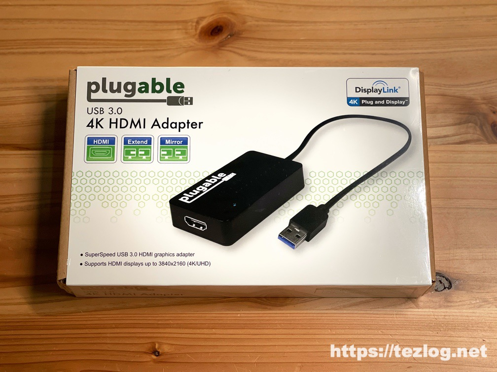 Plugable DisplayLink チップ搭載 4K HDMI USB ディスプレイアダプタ パッケージ