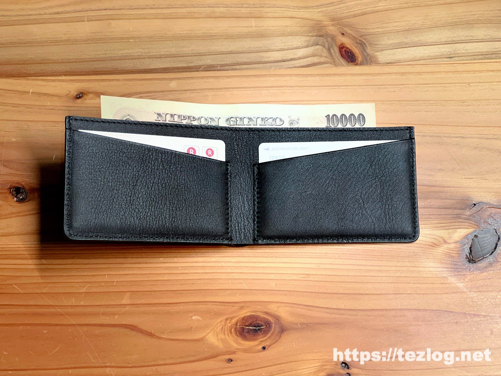 キャッシュレス時代の薄くて小さな革財布 TAVARAT Receca お札がそのまま入らない本当のキャッシュレス。