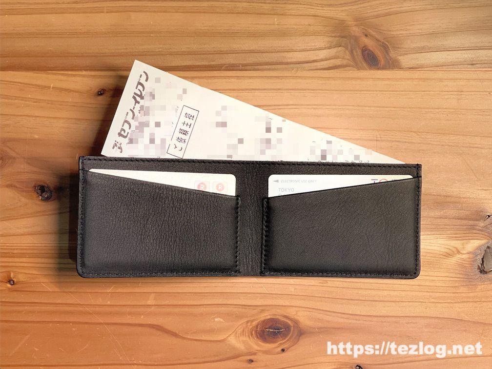 レシート収納に特化した革財布 TAVARAT Receca
