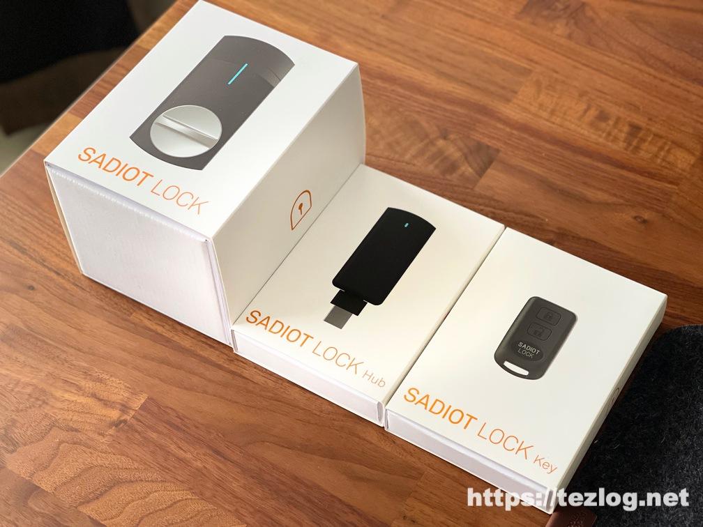 スマートロック SADIOT LOCK・SADIOT LOCK Hub・SADIOT LOCK Key パッケージ