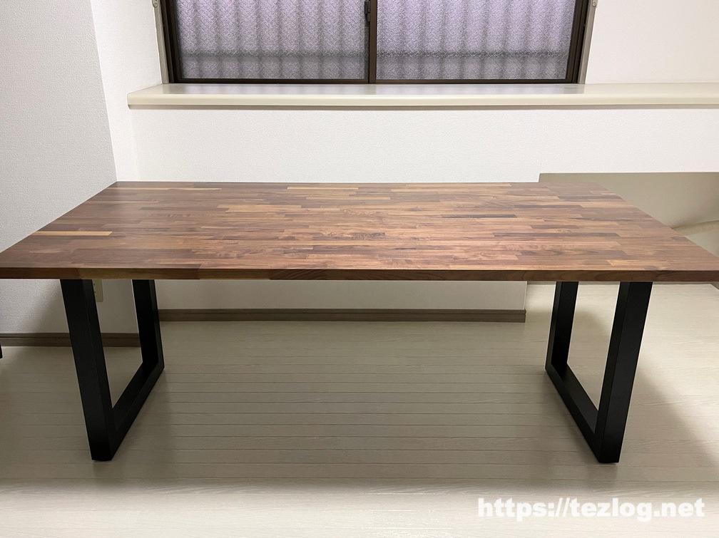 匠一松 ウォールナット 無垢集成材 ダイニングテーブル