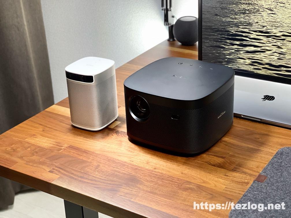 XGIMI 4Kホームプロジェクター HORIZON Proとモバイルプロジェクター MOGO Proの比較