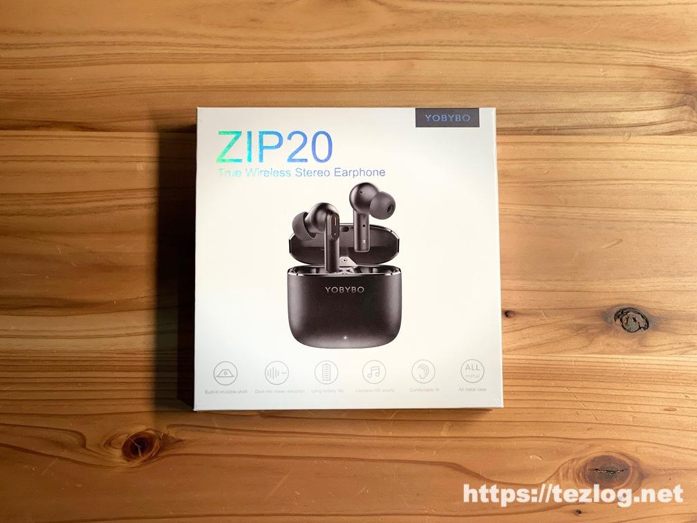 YOBYBO 完全ワイヤレスイヤホン ZIP20 パッケージ