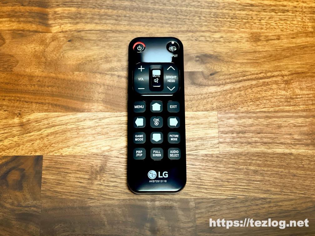 LG 42.5インチ 4K液晶モニター 43UN700T 付属のリモコン