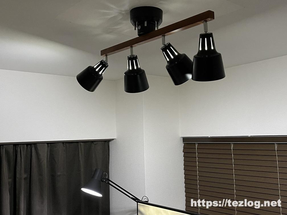 Philips Hue+山田照明 Z-Light+Beaubelle シーリングスポットライトで作ったホームオフィス照明 全ての照明を昼光色で点灯