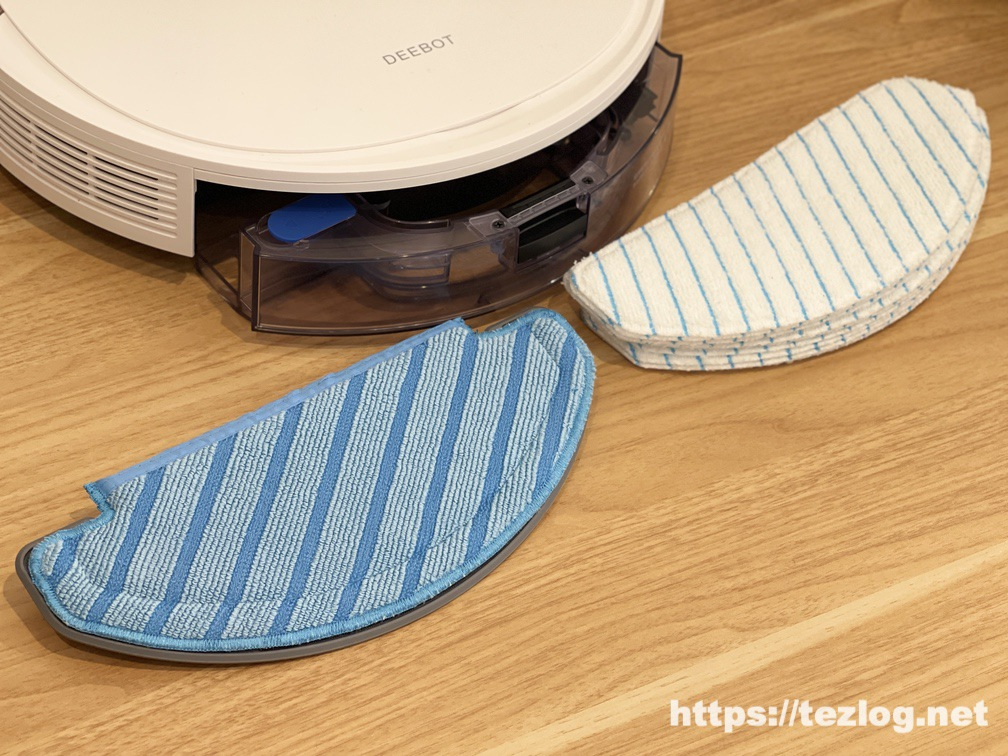 ECOVACS ロボット掃除機 DEEBOT N8 PRO+ 特殊繊維クリーニングモップと使い捨てクリーニングモップ