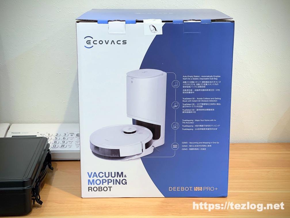 ECOVACS ロボット掃除機 DEEBOT N8 PRO+ パッケージ