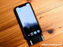 Langogo Miniを装着したiPhone