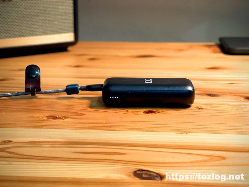 CIO モバイルバッテリー CIO-MB20W-10000-BK USB-Cでバッテリー本体を充電 LEDインジケーター