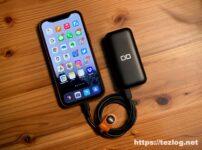 CIO モバイルバッテリー CIO-MB20W-10000-BK USB-CでiPhone 12 Pro Maxを最大20W急速充電