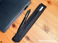 TAVARAT シュランケンカーフレザー ペンケース Tps-133 にApple PencilとJetStream 4+1を入れて、レザーノートと。