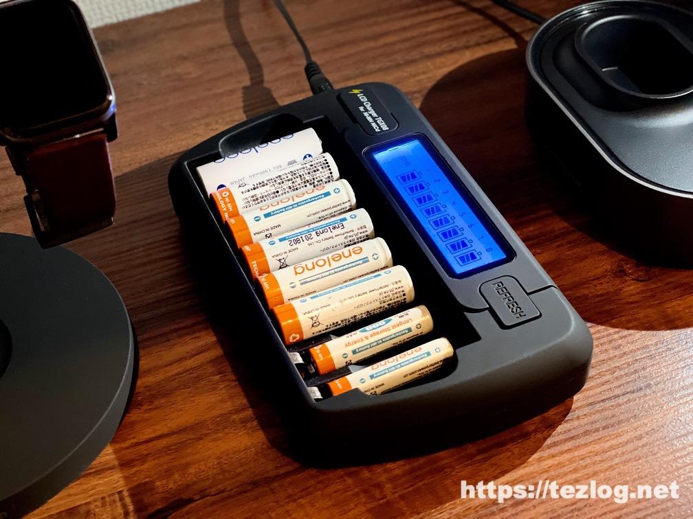 充電池用充電器 TGX08 エネループ・エネロング 単3単4兼用 使用風景