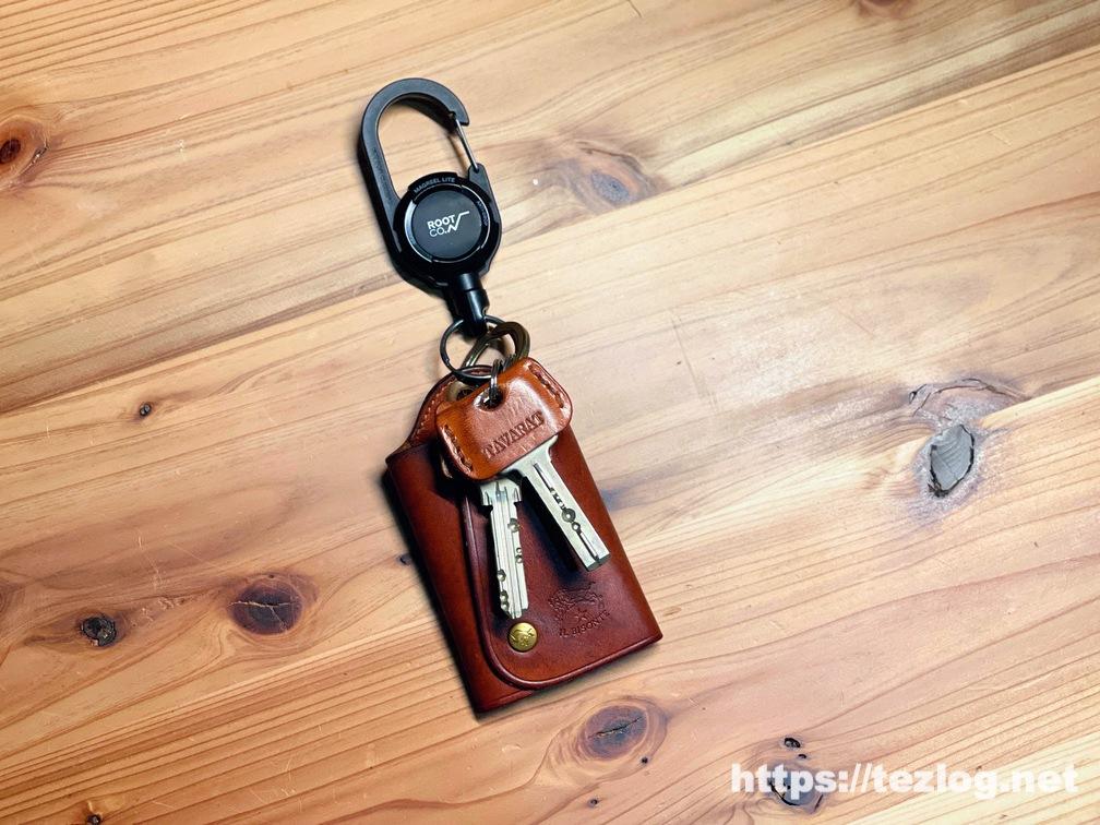 4ヶ月近く使用したTAVARAT 姫路レザーのキーカバーのエイジング