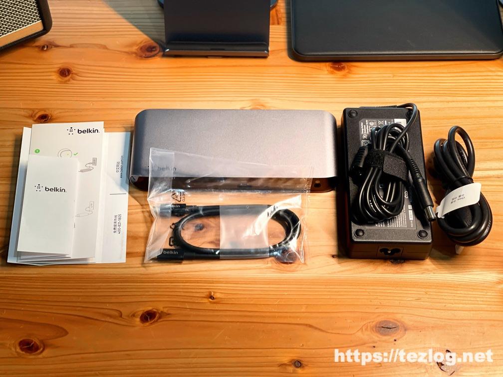 Belkin ドッキングステーション Thunderbolt 3 Dock Pro 付属品一式