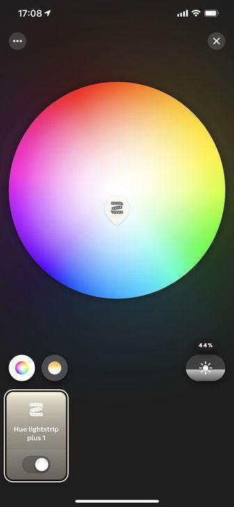 iPhoneでライトリボンの色を選択