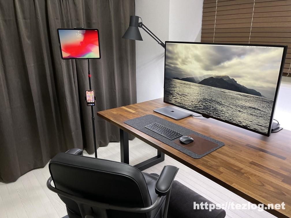 arlook 床置きタブレットスタンド 使用風景