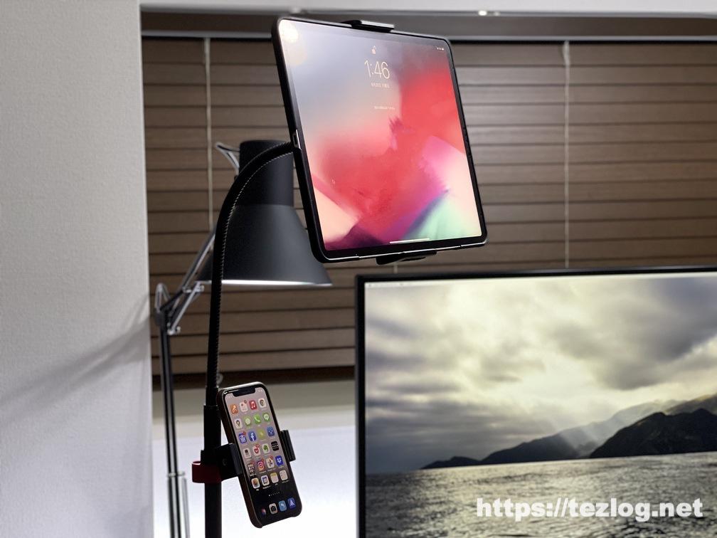 arlook 床置きタブレットスタンド iPad Pro 12.9インチとiPhoneを取り付け