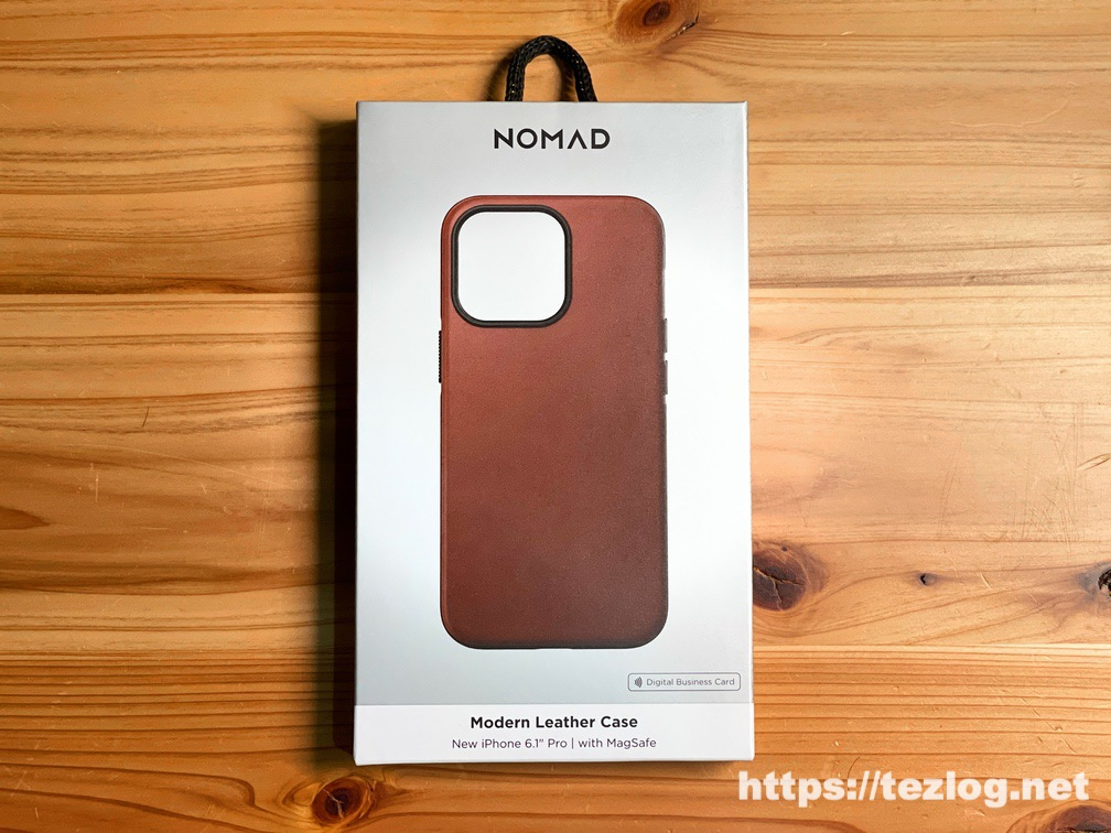 NOMAD Modern Leather Case iPhone 13 Pro Rustic Brown パッケージ