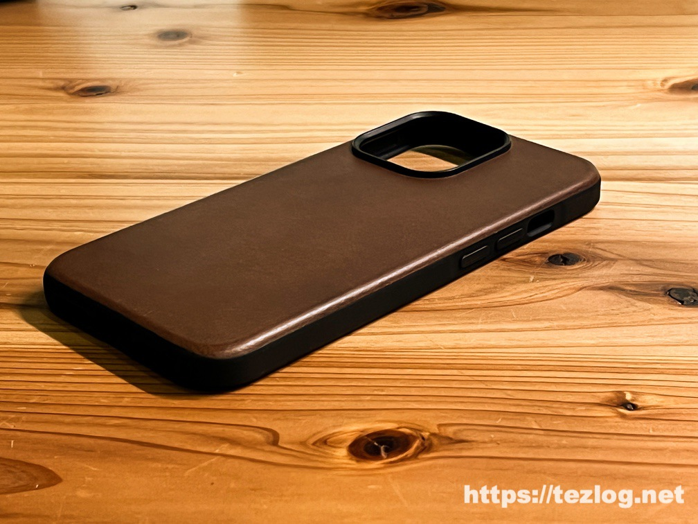 NOMAD Modern Leather Case iPhone 13 Pro Rustic Brown
