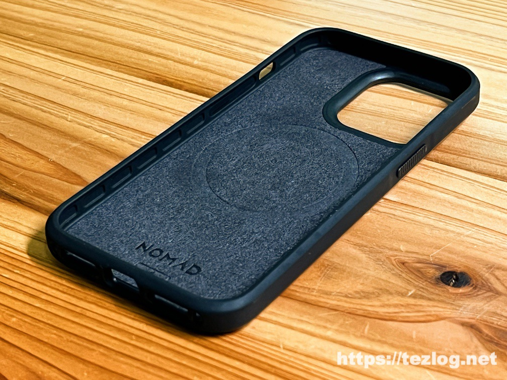 NOMAD Modern Leather Case iPhone 13 Pro Rustic Brown 内側